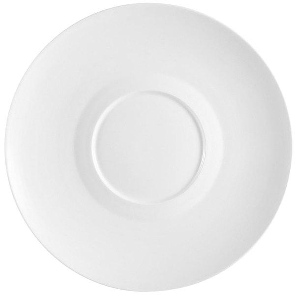 "CAC FDP-21 Paris French 12"" Bone White Round Porcelain Design Plate - 12/Case"