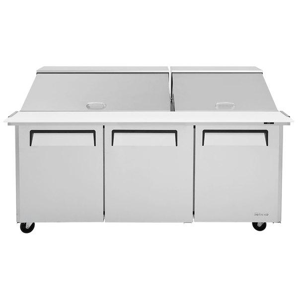 "Turbo Air MST-72-30 72"" 3 Door Mega Top Refrigerated Sandwich Prep Table"