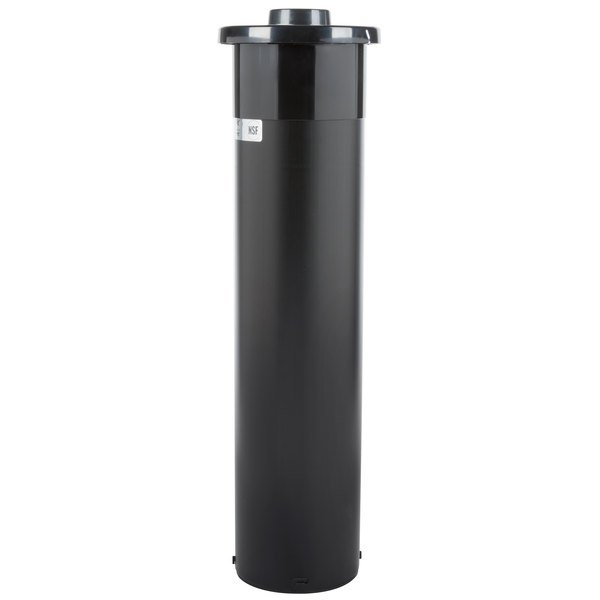 """San Jamar C2410C In-Counter One Size Fits All EZ-Fit 8 - 46 oz. Cup Dispenser with White Gasket - 23 1/4"""" Long"""