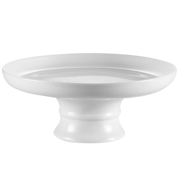 "CAC CKST-10C White China Coupe Cake Stand 10"" x 3"" - 6/Case"