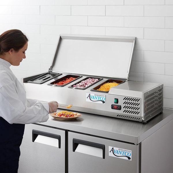 "Avantco CPT-48 47"" Countertop Refrigerated Prep Rail Main Image 6"