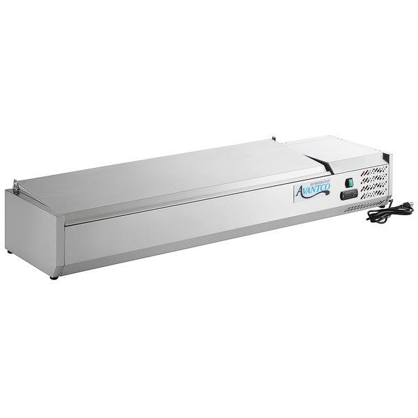 Avantco CPT-60 59 inch Countertop Refrigerated Prep Rail