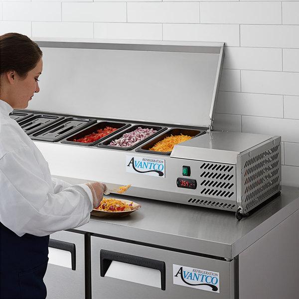 "Avantco CPT-60 59"" Countertop Refrigerated Prep Rail Main Image 6"