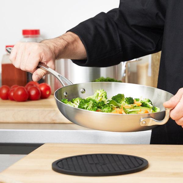 """Vollrath 49413 Miramar Display Cookware 10"""" Saute Pan with Helper Handle"""
