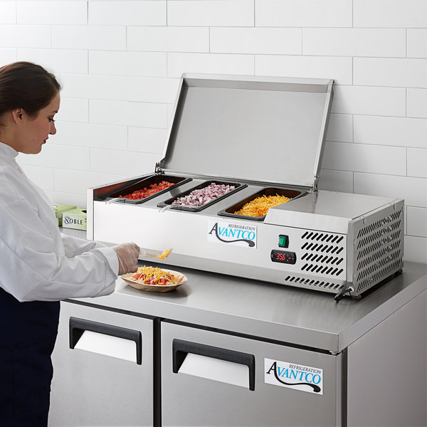 "Avantco CPT-40 40"" Countertop Refrigerated Prep Rail Main Image 6"