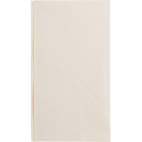 Ecru / Ivory Paper Dinner Napkin, Choice 2-Ply Customizable, 15 inch 17 inch - 1000/Case