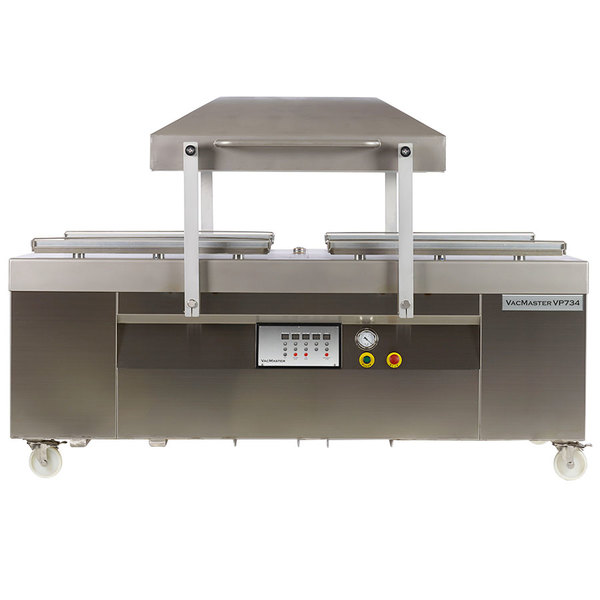 """ARY VacMaster VP734 Two Chamber Floor Model Vacuum Packaging Machine with 34"""" Seal Bars"""