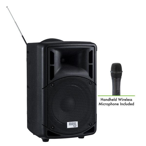 Oklahoma Sound PRA-8000/PRA8-5 Pro Audio Bluetooth Wireless Portable PA System with Wireless Handheld Microphone - 40W Main Image 1