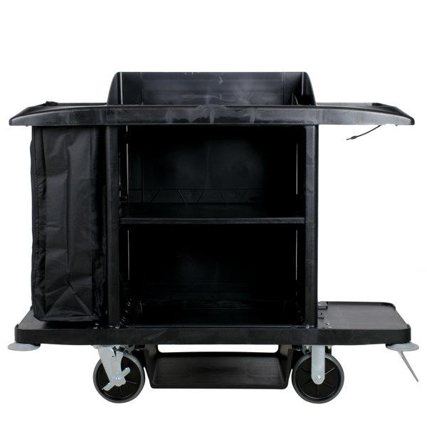 Rubbermaid FG618900BLA Full Size Housekeeping Cart