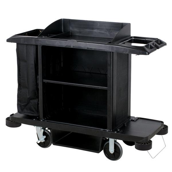 Rubbermaid FG618900BLA Full Size Housekeeping Cart Main Image 1