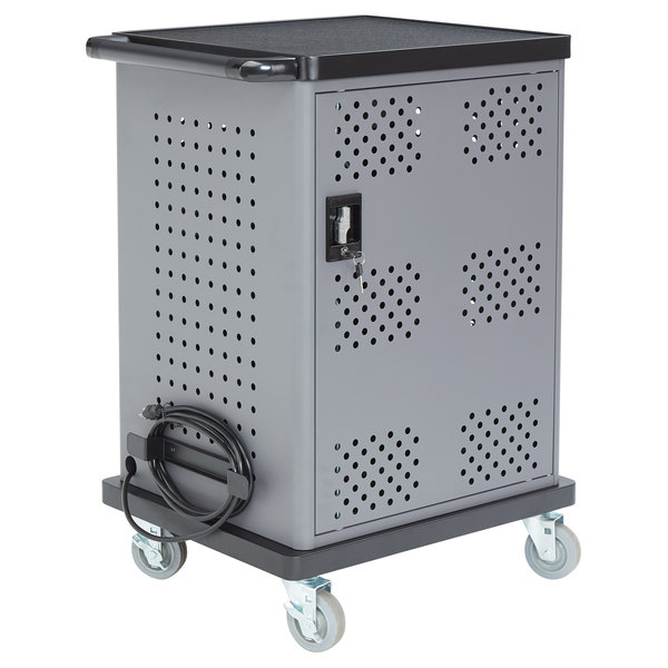 Oklahoma Sound DCC Black and Charcoal Duet Charging Cart Main Image 1