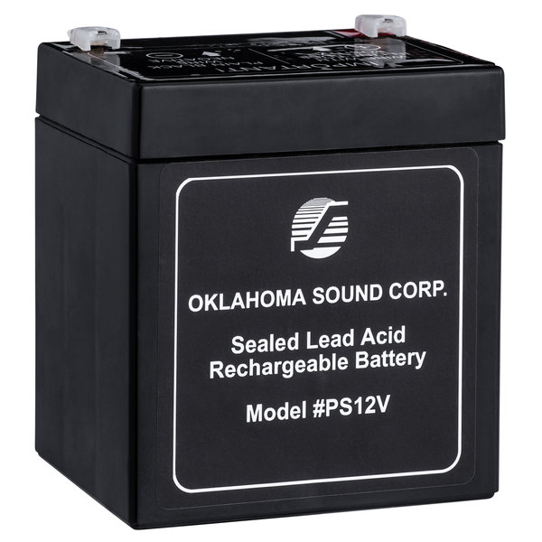 Oklahoma Sound PS12V Rechargeable Power Sonic Battery for Sound Lecterns - 12V, 5A Main Image 1