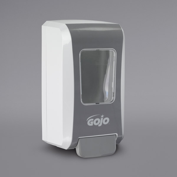 GOJO® 5270-06 FMX-20 2000 mL White / Gray Manual High Capacity Hand Soap Dispenser Main Image 1