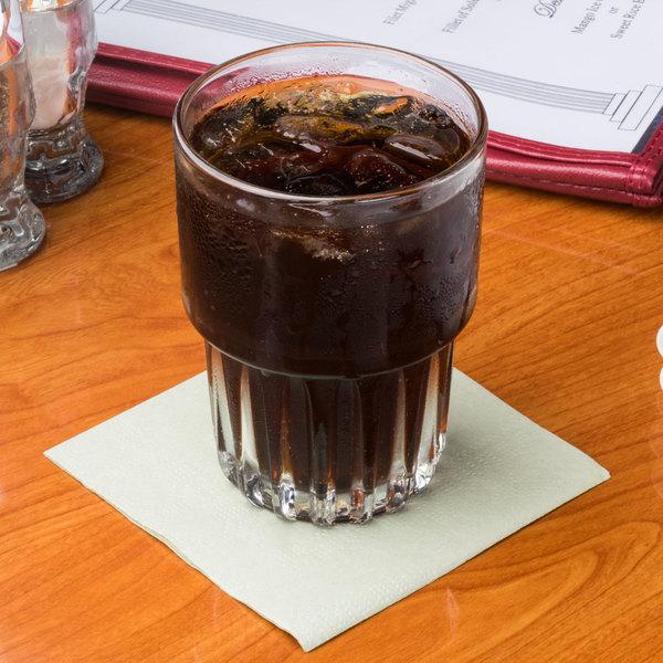 Hoffmaster 180346 Soft Sage Green Beverage / Cocktail Napkin - 1000/Case