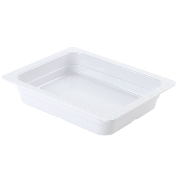 GET ML-18-WH White Melamine 1/2 Size 2 1/2 inch Deep Food Pan