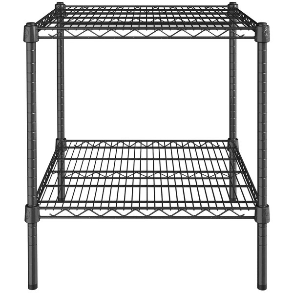 Workshop Home Best Decision for Retail x 42 inch Garage Warehouse 24 inch Kitchen Posts NSF Certified Black Epoxy 2-Shelf Kit with 27 inch School Commercial Storage Restaurant