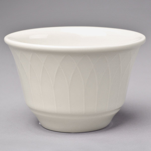 Homer Laughlin 3307000 Gothic 7 oz. Ivory (American White) China Bouillon Cup - 36/Case
