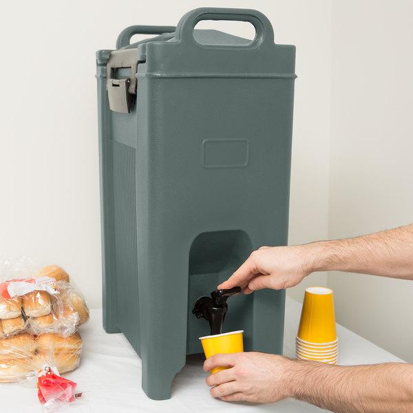 Carlisle XT500059 Cateraide 5 Gallon Slate Blue Insulated Beverage Dispenser