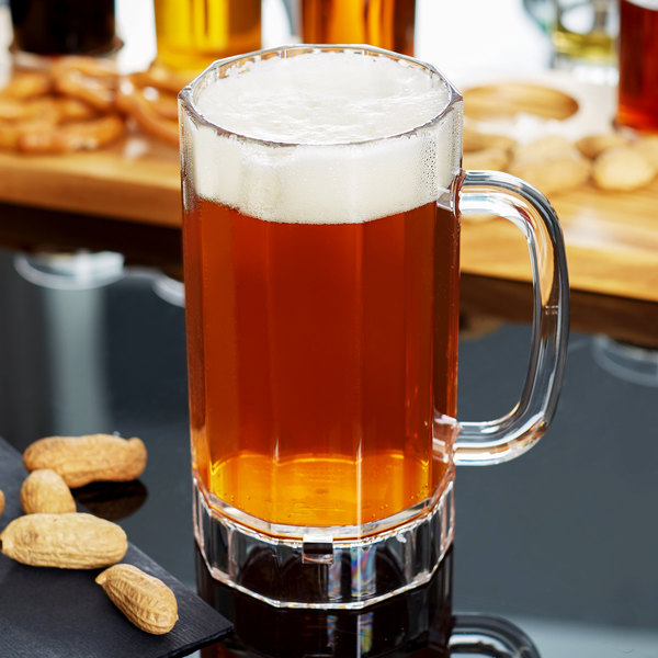 GET 00087-PC-CL 20 oz. Plastic Beer Mug - 12/Case Main Image 2