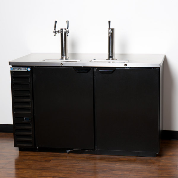 Beverage-Air DD58HC-1-B 1 Single and 1 Double Tap Kegerator Beer ...