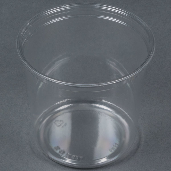 Bare by Solo DM24R-0090 24 oz. Clear Deli Container Recycled - 500/Case Main Image 1