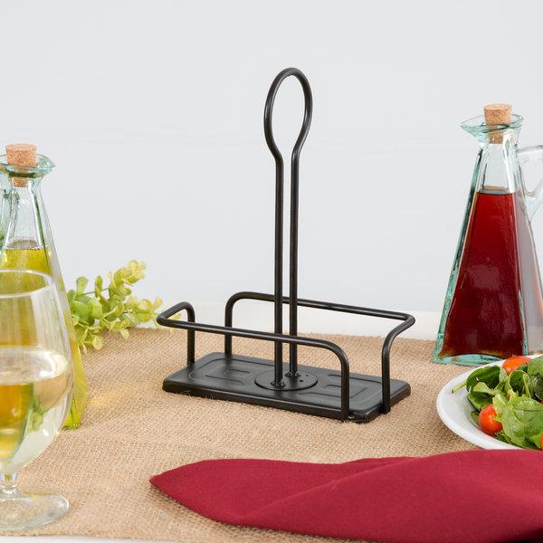 Tablecraft 617RBK Marbella Oil & Vinegar Metal Rack