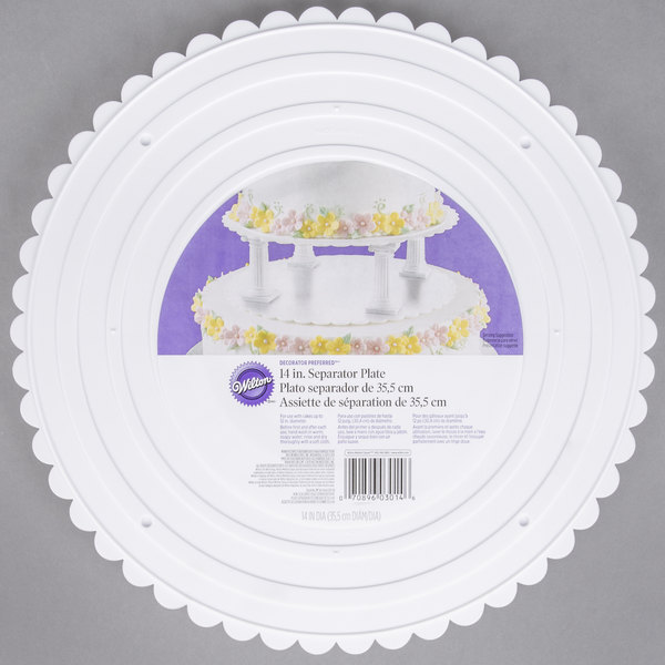 Wilton 302-14 Decorator Preferred Round Scalloped Edge Cake Separator Plate - 14""