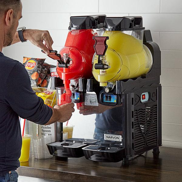 Narvon SMM2B Double 1.6 Gallon Pourover Granita / Slushy / Frozen Beverage Dispenser - 120V, 550W Main Image 4