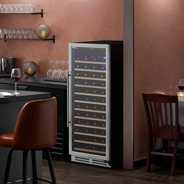 AvaValley WRC-128-SZ Single Section Single Temperature Full Glass Door Wine Refrigerator Main Image 5