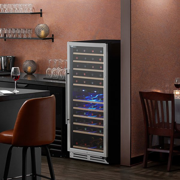AvaValley WRC-128-DZ Single Section Dual Temperature Full Glass Door Wine Refrigerator Main Image 5