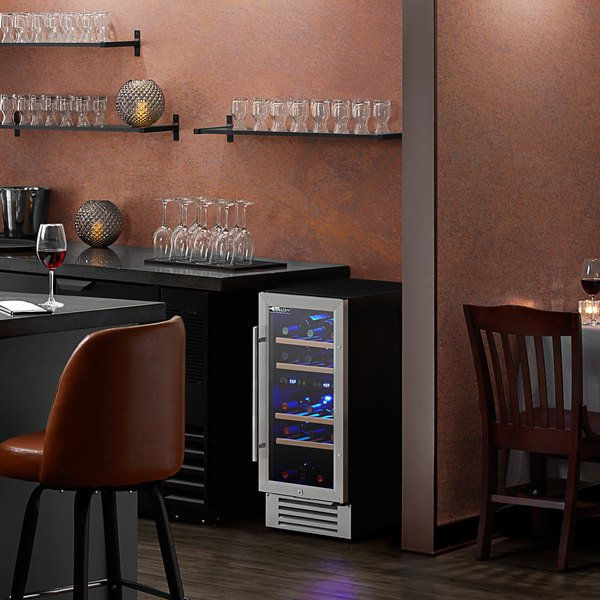 AvaValley WRC-32-DZ Single Section Dual Temperature Full Glass Door Wine Refrigerator Main Image 4