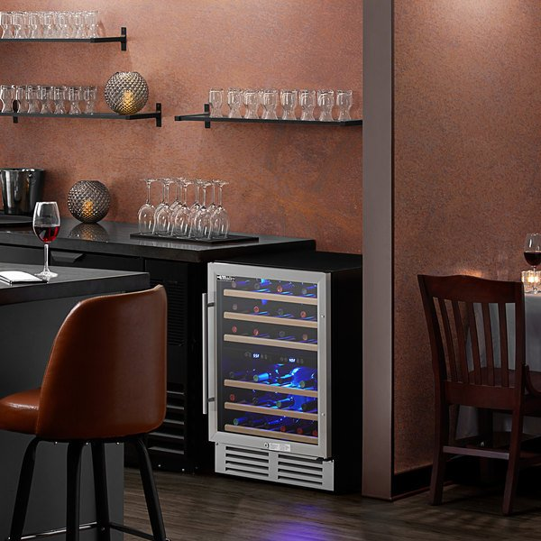 AvaValley WRC-46-DZ Single Section Dual Temperature Full Glass Door Wine Refrigerator Main Image 4