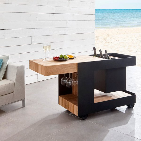 Astella INDU-BAR ISLE Outdoor Mobile Bar / Side Table Main Image 7