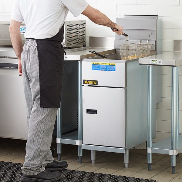 Anets 40AS Silver Economy Series Natural Gas 40-45 lb. Tube Fired Fryer - 107,000 BTU Main Image 5