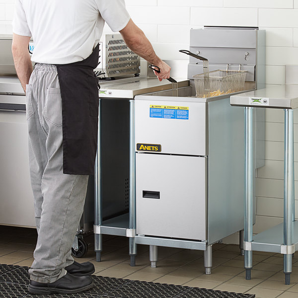 Anets 45AS Silver Economy Series Natural Gas 40-45 lb. Tube Fired Fryer - 122,000 BTU Main Image 5