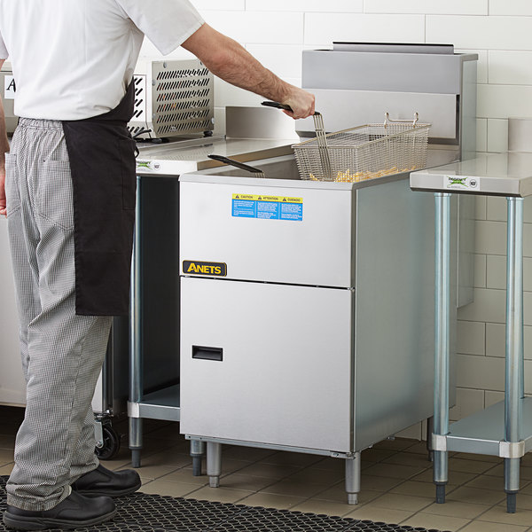 Anets 70AS Silver Economy Series Natural Gas 65-80 lb. Tube Fired Fryer - 150,000 BTU Main Image 5