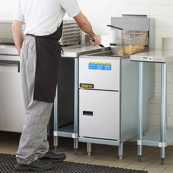 Anets 35AS Silver Economy Series Natural Gas 40-45 lb. Tube Fired Fryer - 90,000 BTU Main Image 5