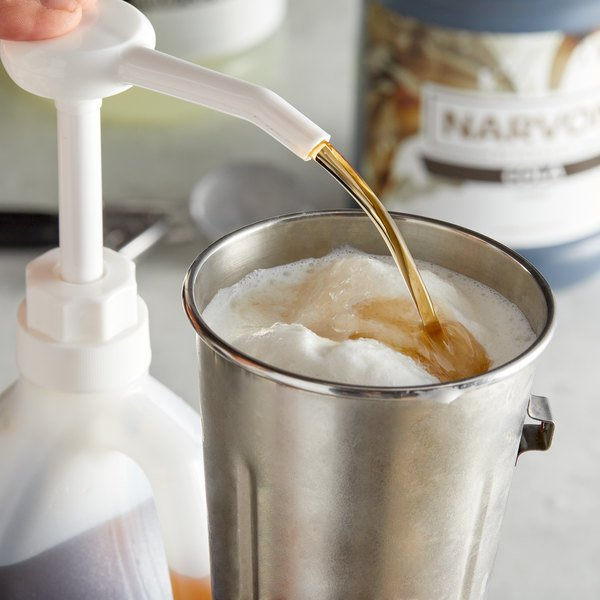 Narvon 1 Gallon Dark Vanilla Syrup - 4/Case