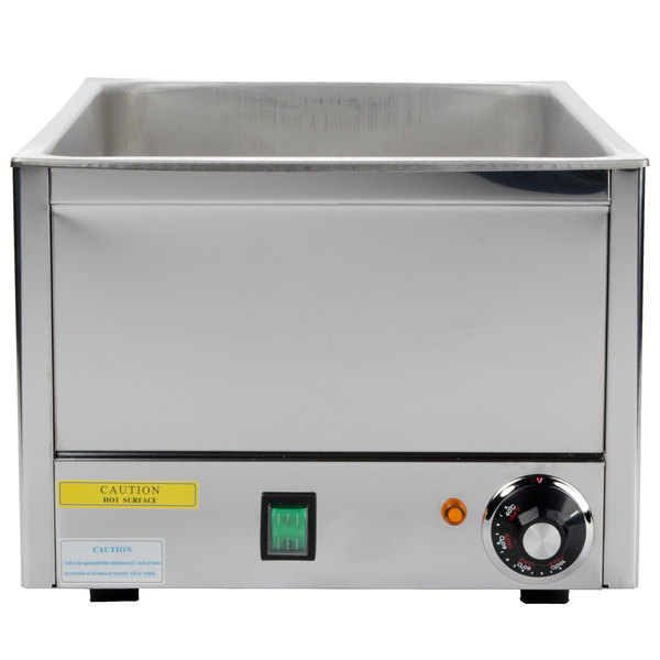 """12"""" x 20"""" Electric Food Warmer with Thermostat - 120V, 1200W"""