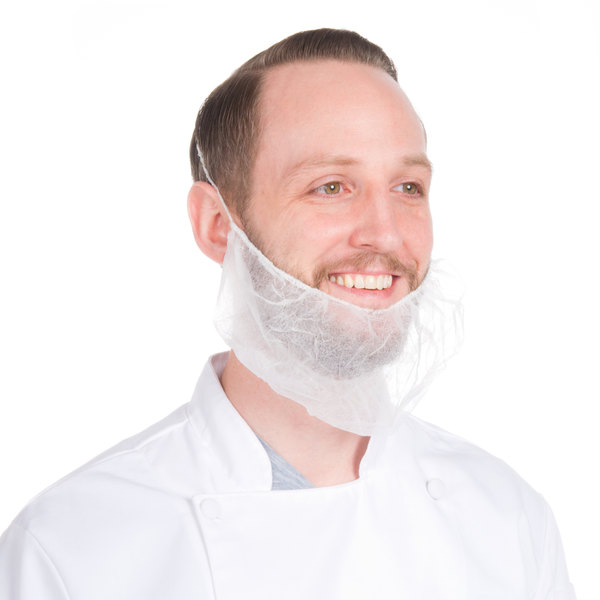 Royal Paper RBP1M Disposable Polypropylene Beard Cover - 100/Pack