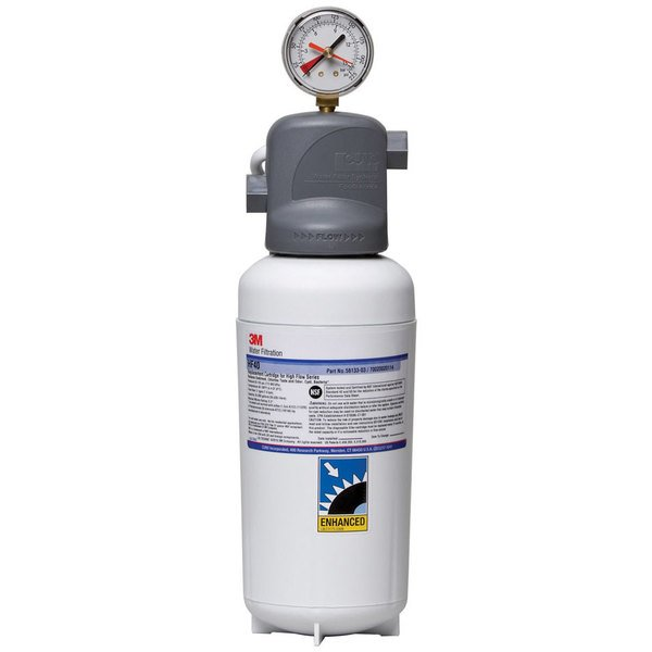 3M Water Filtration Products BEV140 Single Cartridge Cold Beverage Water Filtration System - .2 Micron Rating and 2.1 GPM Main Image 1