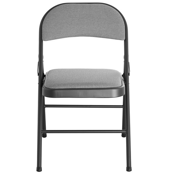 Lancaster Table Seating Black Fabric Folding Chair With Padded Seat