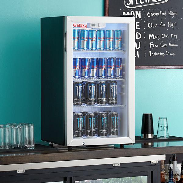 Galaxy CRG-4 Black Countertop Display Refrigerated Merchandiser - 3.5 cu ft. Main Image 4