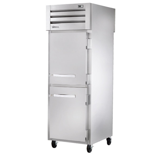 True STA1RPT-2HS-1S Specification Series Pass-Through Front Solid Half Door / Rear Solid Full Door Refrigerator