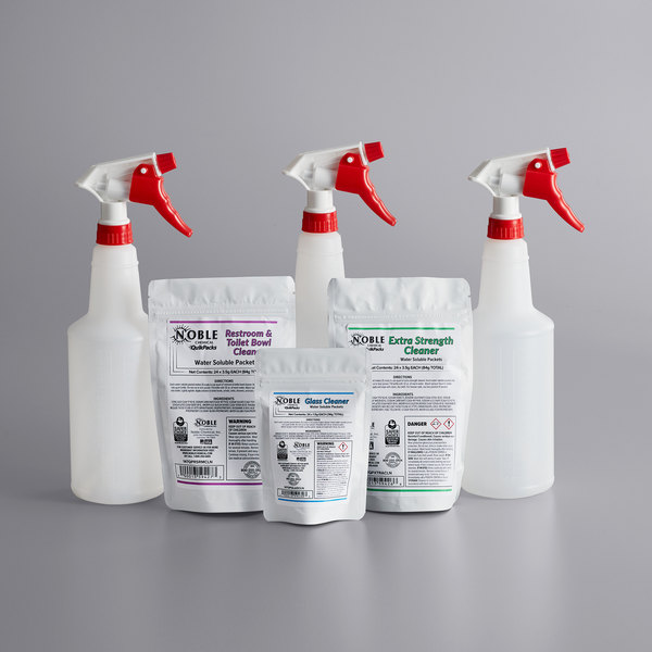 Noble Chemical QuikPacks 3 Chemical Cleaning Kit Main Image 1