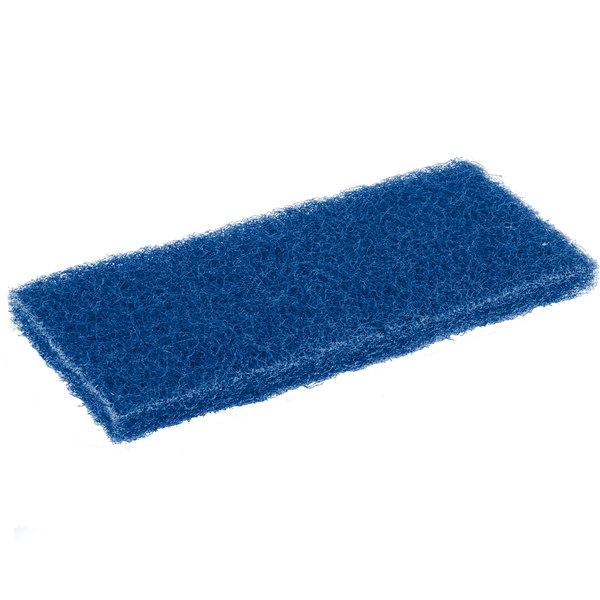 "Scrubble by ACS 626 10"" x 4 1/2"" Medium-Duty Blue Multi-Purpose Scouring Pad - 5/Pack Main Image 1"