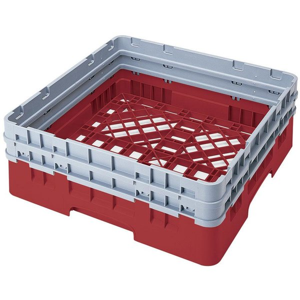 Cambro BR578163 Red Camrack Customizable Full Size Open Base Rack with 2 Extenders