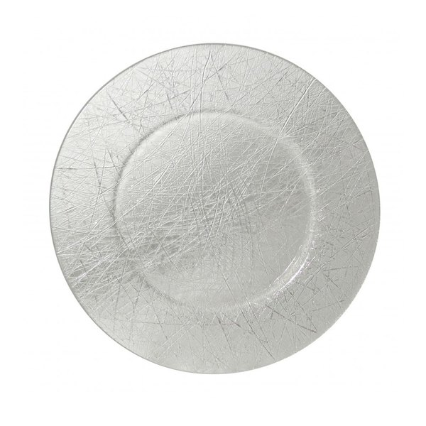 """10 Strawberry Street WHSTLR-340 13"""" Whistler Nouve Etched Glass Charger Plate"""