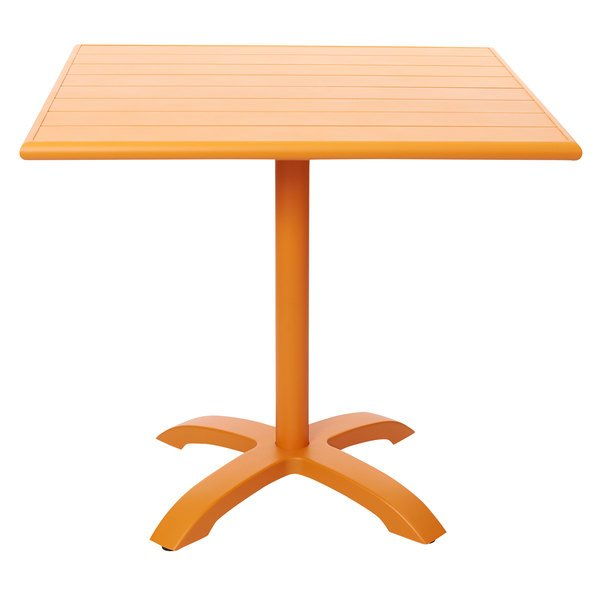 """BFM Seating PHB3232CT-2626CT Beachcomber-Bali 32"""" Square Citrus Powder Coated Aluminum Dining Height Outdoor / Indoor Table Main Image 1"""