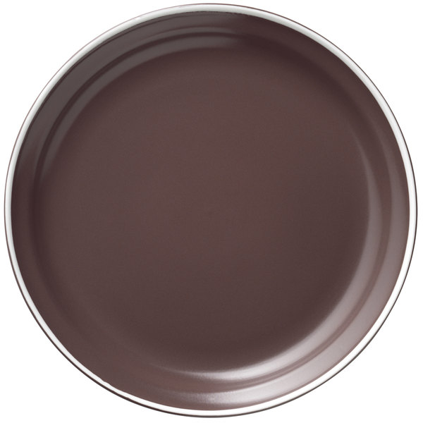 """World Tableware ENG-2-M Englewood 9"""" Matte Mulberry Porcelain Plate - 24/Case Main Image 1"""